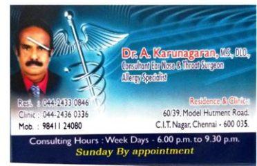 Dr. A. Karunagaran