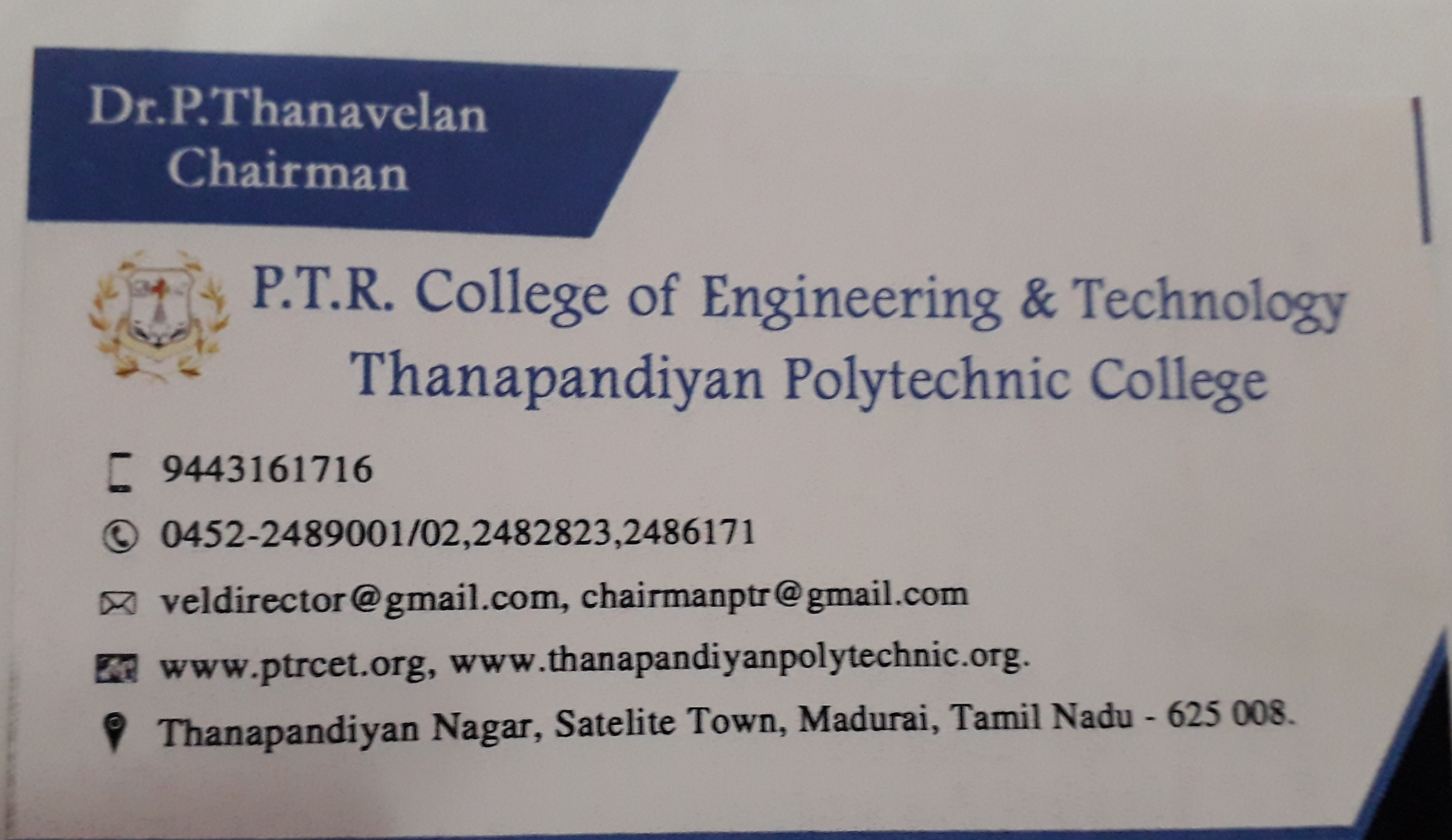 Dr.P DHANAVELAN