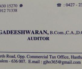G.Jagadeeshwaran,B.Com.,C.A.,D.C.C.E.,